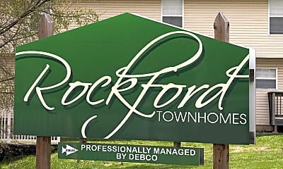 Community Signage, Rockford Townhomes, 2