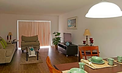 Living Room, Park Plaza Apartments, 1