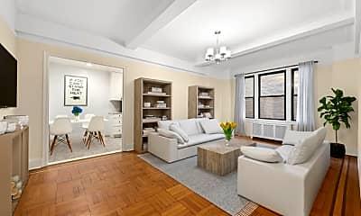 Living Room, 210 W 101st St 4C, 0