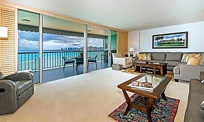Living Room, 2877 Kalakaua Ave PH2, 1