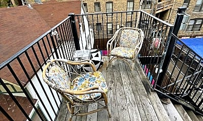 Patio / Deck, 3445 N Halsted St, 2