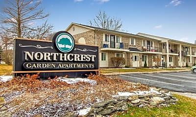 Community Signage, Northcrest Garden Apartments, 0
