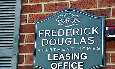Community Signage, Frederick Douglas Apartments, 1