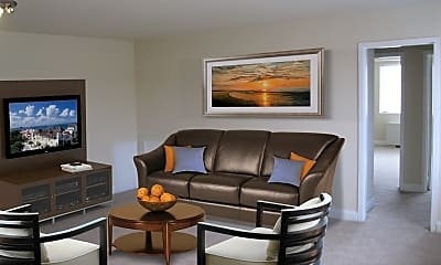 Living Room, Park Shirlington Apartments, 1