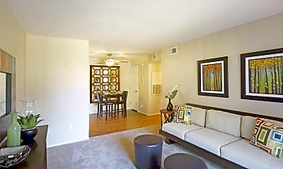 Living Room, Palm Crest At Station 40, 2
