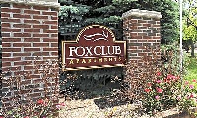 Community Signage, Fox Club Apartments, 0