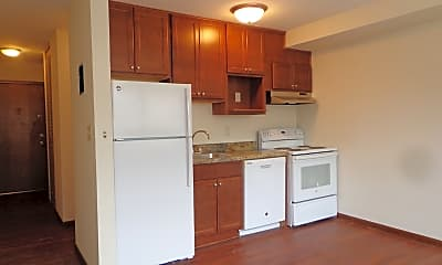 Kitchen, Bryant Manor Apartments, 2