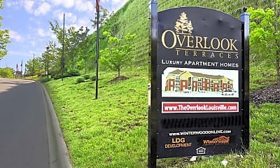 Community Signage, Overlook Terraces, 2