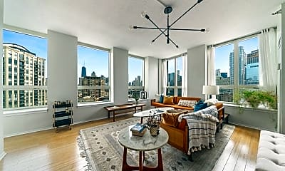 Living Room, 600 N Kingsbury St 1504, 1