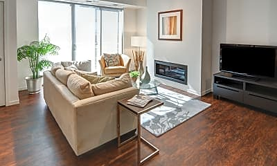 Living Room, 1800 Lake Apartments, 1