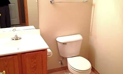 Bathroom, Woodland Townhomes, 2