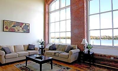 Living Room, Riverbank Lofts, 1