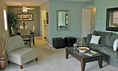 Living Room, Hillside Court, 1
