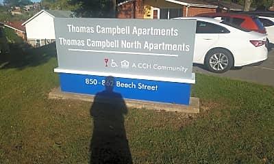 Thomas Campbell North Apartments, 1