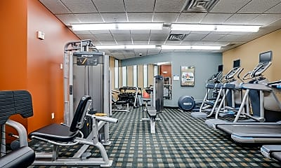 Fitness Weight Room, Hoigaard Village Apartments, 1