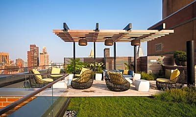 yard featuring a lawn and a pergola, The Capitol, 1
