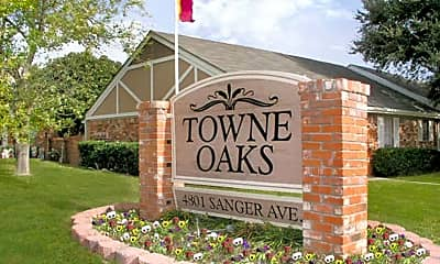 Community Signage, Towne Oaks Apartments, 1