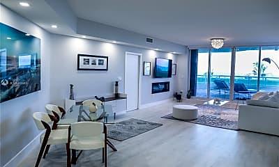 Living Room, 6001 N Ocean Dr 307, 1