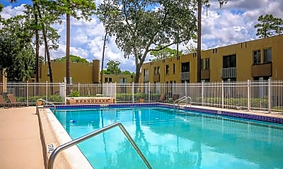 Pool, University Townhomes, 0