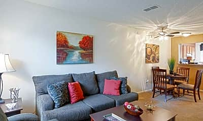 Living Room, Old Mill Townhomes, 1