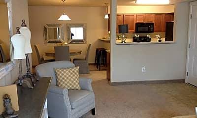 Living Room, Granite Pointe Apartments, 1