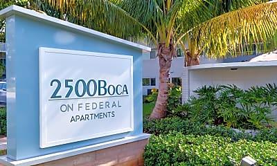 Community Signage, 2500 Boca on Federal, 2