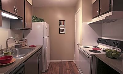 Kitchen, Greentree Apartments, 2