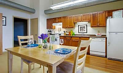 Dining Room, Gund Brewery Lofts Apartments, 0