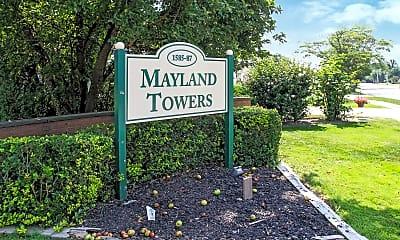 Community Signage, Mayland Towers Apartments, 1