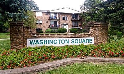 Community Signage, Washington Square Apartments, 0