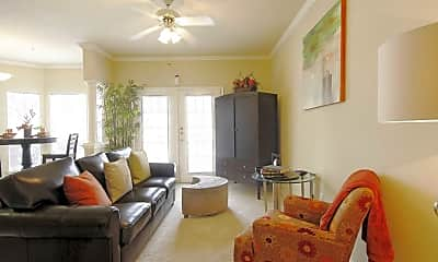 Living Room, Meyer Forest Apartments, 1