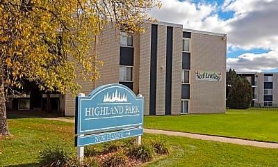 Community Signage, Highland Park Apartments, 2