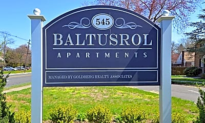 Community Signage, Baltusrol Apartments, 2