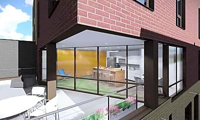 Patio / Deck, The 505 on Walnut: Off-Campus Syracuse University Housing, 2