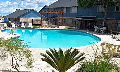 Pool, Cottages @ Terrell Hills, 1