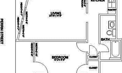Bedroom, 400 Perrin St, 2