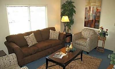 Living Room, Princeton Court Apartments, 1
