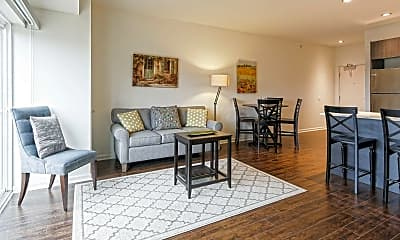Living Room, Cardinal Square Rental Community, 1