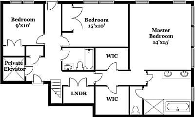 Bathroom, 12 N Astor St, 2