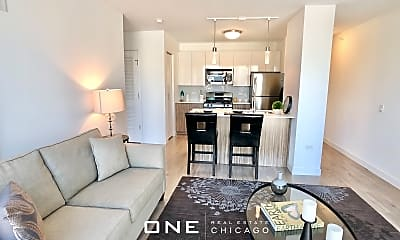 Living Room, 333 W Wolf Point Plaza, 1