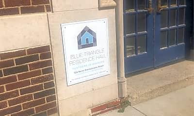 Blue Triangle Residence Hall, 1