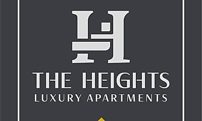 Community Signage, The Heights Apartments, 2