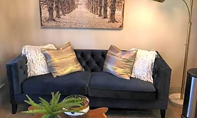 Living Room, Greenbriar Apartments, 2
