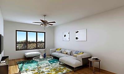 Bedroom, Roland Apartments, 2