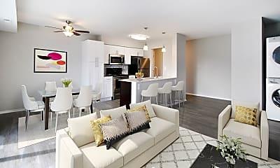 Living Room, The Retreat at Farmington Hills, 1