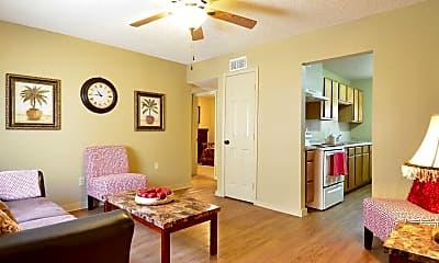 Living Room, Woodlawn Terrace Apartments - LA, 1