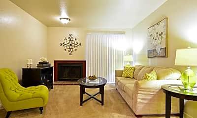 Living Room, Hillside Apartments, 1