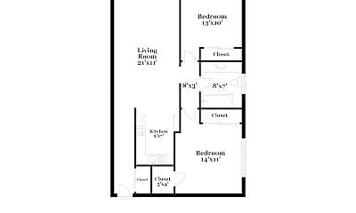 Bedroom, 2434 Fern St, 2