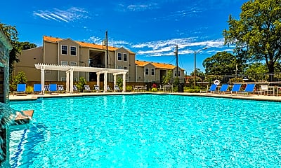 Pool, Colony Point Apartments, 1