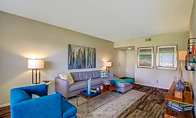 Living Room, Forest Park Apartments of Fletcher Hills, 1